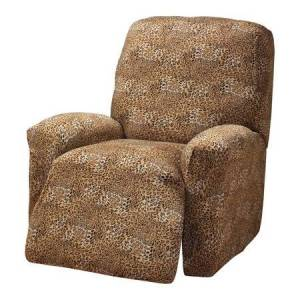 Madison Industries Leopard Jersey Recliner Cover