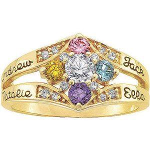 Keepsake Personalized Daydream Mother's Birthstone Ring