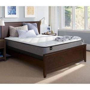 """Sealy Response Essentials 8.5"""" Firm Tight Top Mattress and Low Profile Foundation Set"""