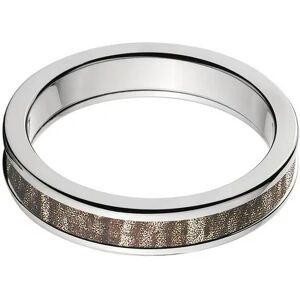 Generic 4mm Half-Round Titanium Ring with a Mossy Oak Bottomland Camo Inlay