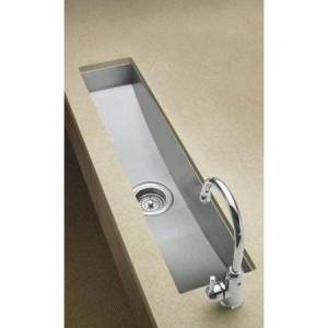 Kohler K-3188 Single Basin Stainless Steel Kitchen Sink from the Undertone Series: Stainless Steel