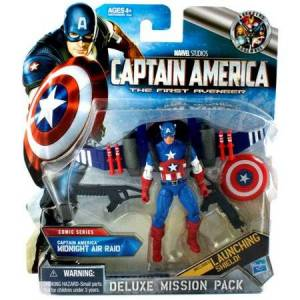 Gentle Giant Deluxe Mission Pack Comic Series Captain America Midnight Air Raid Action Figure