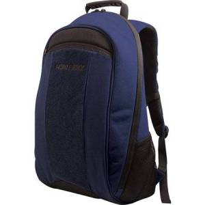 "Edge Mobile 17.3"" Edge Eco-Friendly Canvas Backpack, Black/Blue"