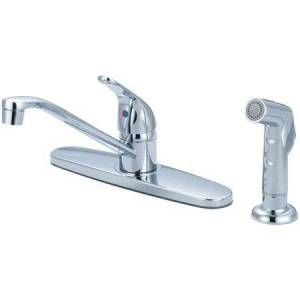 Olympia Faucets Single Handle Kitchen Faucet with Side Spray