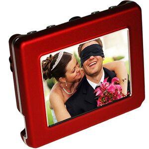 "Digital Foci 2.8"" OLED Digital Photo Frame, Red"