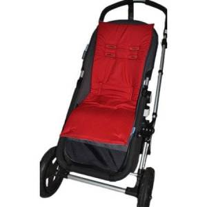 Tivoli Couture Nu Comfort Memory Foam Stroller Pad and Seat Liner Ruby Red