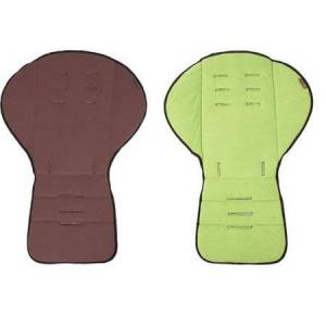 Mountain Buggy Seat Liner 2 color Reversible Fleece Chocolate Moss