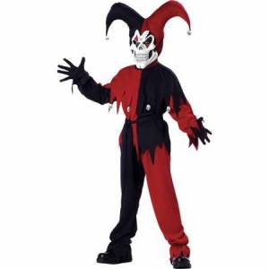 Generic Jester Evil Child Halloween Costume