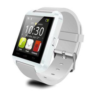 TechComm U8 Smartwatch with Bluetooth, Hands-Free Phone Calling, Fitness Tracker, Sleep Monitor, Pedometer, Bluetooth Music Play and Remote Camera - White