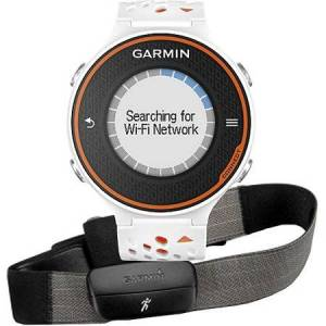 "Garmin Forerunner 620 1"" Advanced GPS Running Watch and HRM-Run with Recovery Advisor, White/Orange"