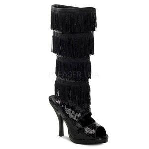 Pleaser Adult Black Flapper Boot Pleaser USA FLAPPER-168