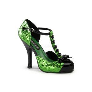 Pleaser Green Glitter Dress Shoe Pleaser Festive-10