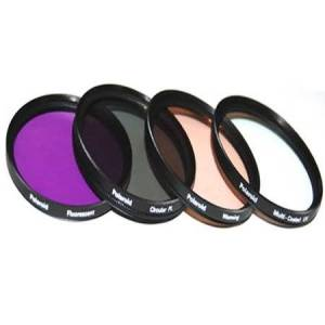Polaroid Optics 72mm 4 Piece Camera Lens Filter Set (UV, CPL, FLD, WARMING)