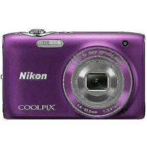 """Nikon COOLPIX S3100 14MP Digital Camera, Purple w/ 5x Optical Zoom, 2.7"""" LCD Display"""