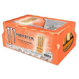 Monster Cable Ultra Sunrise Energy Drink, 16 Fl Oz, 24 Ct