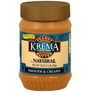 Krema Smooth & Creamy Peanut Butter, 16 oz (Pack of 12)