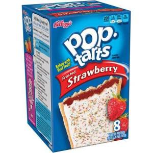 Kellogg's Pop-Tarts Frosted Strawberry Toaster Pastries, 8 count, (Pack of 12)