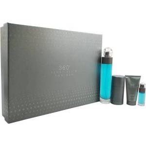 Perry Ellis 360 by Perry Ellis for Men - 4 Pc Gift Set 3.4oz EDT Spray, 2.75oz Deodorant Stick, 1.7oz Shower Gel, 0.25oz EDT Spray