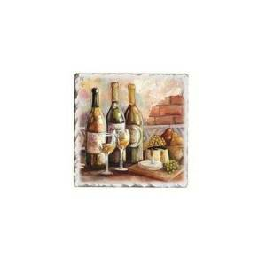 Counter Art Absorbent Stoneware Coasters, Set of 4, Tuscan Pinot 10310