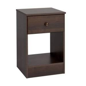 Prepac Astrid Tall 1-Drawer Night Stand, Multiple Finishes