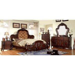 Furniture of America Whitlatch Upholstered Panel Bed Set