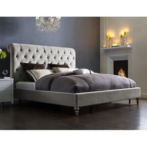 TOV Putnam Grey Velvet King Bed