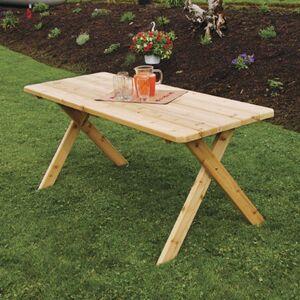 A & L Furniture A; L Furniture Western Red Cedar Crossleg Picnic Table