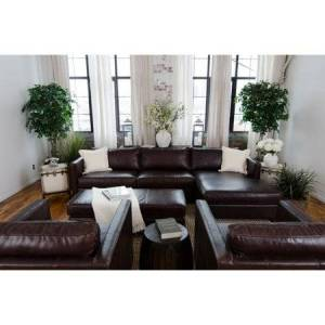 Elements Fine Home Furnishings Elements Fine Home Urban Leather 4 Pc. Sofa Set with Rectangle Cocktail Ottoman