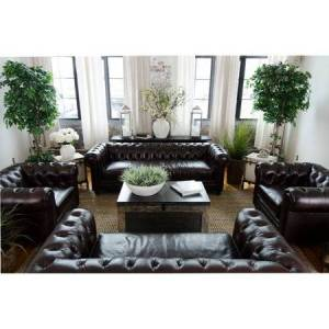 Elements Fine Home Furnishings 4-Pc Sectional Sofa Set in Saddle