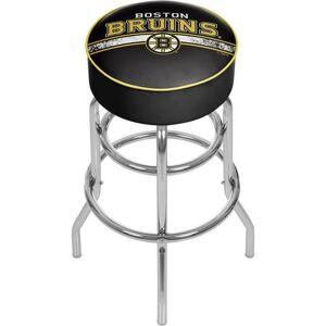 Trademark Global NHL Chrome Bar Stool with Swivel, Boston Bruins