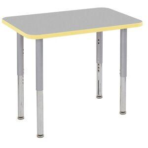"ECR4Kids 24""x36"" Rectangular Contour Adjustable Table w/ Super Leg"