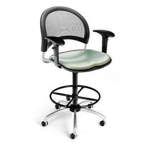 OFM 336-AA3DK-BLKTE Elements Moon Swivel Chair With Arms and Drafting Kit & #44.