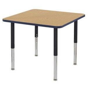 "ECR4Kids 36"" Square Thermo-Fused Activity Table w/ Super Leg"