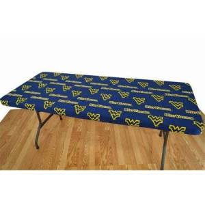 College Covers WVATC8 West Virginia 8 ft. Table Cover