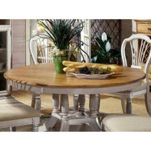 Hillsdale Furniture Hillsdale Wilshire Antique White Round Dining Table