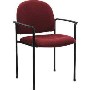 Generic Comfortable Stackable Steel Side Chair With Arms, Multiple Colors