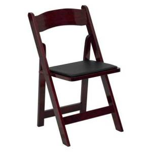 Flash Furniture Hercules Series Wood Folding Chair with Vinyl Padded Seat
