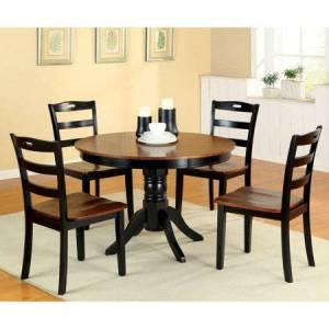 Furniture of America Eduard 5 Piece Round Dining Table Set