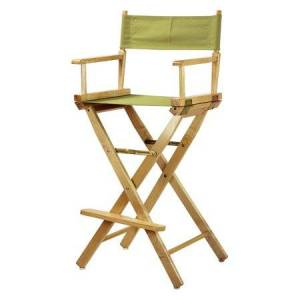 """Casual Home 30"""" Director's Chair White Frame-Olive Canvas"""