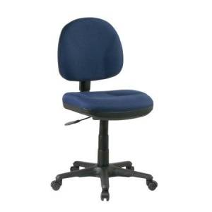 Work Smart Sculptured Icon Task Chair Without Arms-Color: Navy