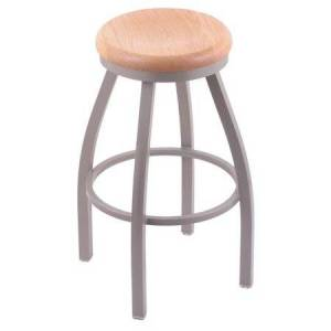 Holland Bar Stool Misha 25 in. Swivel Counter Stool with Wood Seat