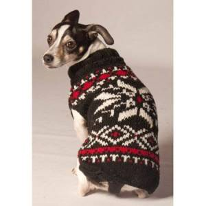 Chilly Dog Snowflake Dog Sweater - Black