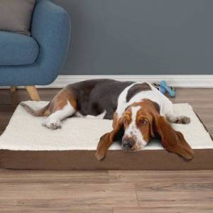 PETMAKER Orthopedic Sherpa Top Dog Pet Bed with Memory Foam and Removable Cover by PETMAKER