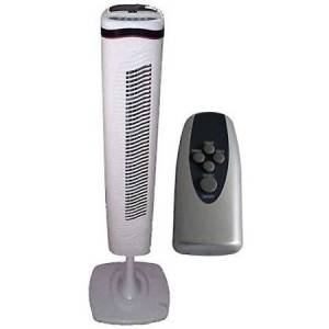 """Optimus 40"""" Pedestal Tower Fan With Remote Control and LED"""