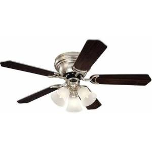 """Westinghouse 7861500 42"""" Brushed Nickel 5-Blade Indoor Ceiling Fan with Lights"""