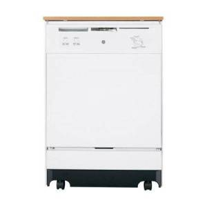 GE GSC3500DWW 24; Full Console Portable Dishwasher with 5 Wash Cycles 2-Stage Filtration with ExtraFine Filter