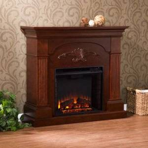 Southern Enterprises Chamberlain Electric Fireplace, Mahogany