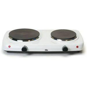 Elite Home Fashions Elite Cuisine Electric Double Cast Burner Hot Plate EDB-302F, White