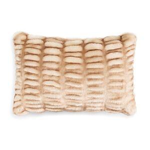 Hudson Park Collection Hudson Park Sculpted Faux Fur Decorative Pillow, 12 x 20 - 100% Exclusive  - Sable
