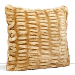 Hudson Park Collection Hudson Park Sculpted Faux Fur Decorative Pillow, 20 x 20 - 100% Exclusive  - Sable